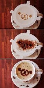 cute rilakkuma cappuccino