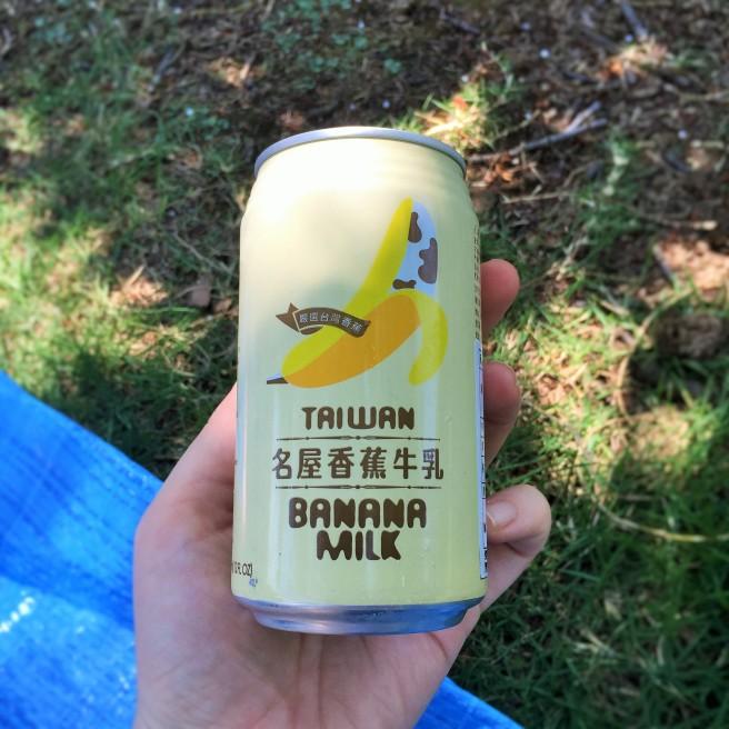 the banana milk tasted like banana laffy taffys not bad but chad helped me finish it chad garden pod