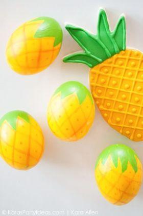 pineapple Easter eggs