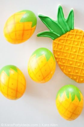 pineapple Easter eggs